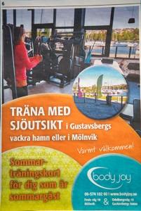 Annons i Nacka Värmdöposten Juni 2015.